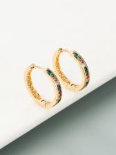 Plain Round Design Versatile Stud Earrings