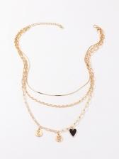 Retro Plain Vogue Layered Necklace Women