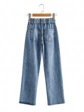 Spring Light Blue Wide Leg Denim Jeans