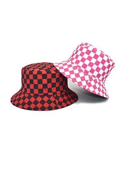 Fashion Plaid Reversible Fisherman Hat Unisex