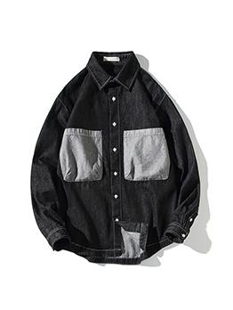 Fashion Pocket Long Sleeve Mens Coats