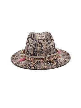 Vintage Style National Snake Printed Fedora Hat