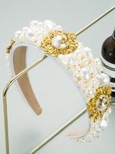 Baroque Style Faux-Pearl Catwalk Hair Hoop
