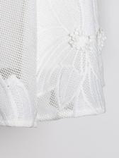 Sweet Style Solid Lantern Sleeve Lace Ladies Dresses