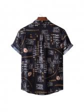 Causal Print Short Sleeve Shirts For Men