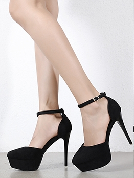 Chic Solid Stiletto Ladies Platform Heels