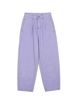 Loose Pure Color Men Denim Jeans