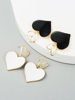 Korean Style Heart Shape Earrings Women