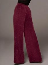 Fashion High Rise Women Wide Leg Pants