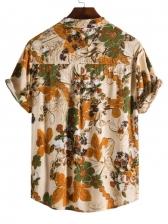 Vintage Flower Printed Shirts For Men