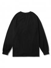 Letter Printed Long Sleeve Crewneck Sweatshirt