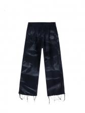 Fashion Tie Dye Men Straight Leg Jeans