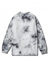 Loose Tie Dye Male Crewneck Sweatshirt