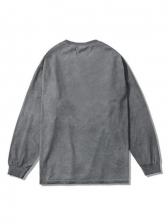 Casual Letter Pattern Vintage Sweatshirts