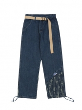 Loose Panel Wide Leg Denim Jeans