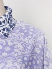 Elegant Printed Color Block Ladies Blouses