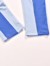 Contrast Color Off Shoulder Sleeveless Jumpsuits