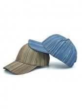 Adjustable Fashion Striped Spring Travel Baseball Cap