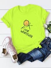 New Cotton Print Short Sleeve T Shirt