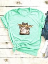 Summer Crew Neck Short Sleeve T Shirt