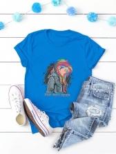 Hip Hop Print Short Sleeve T Shirt