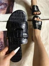 Round Toe Solid Beach Ladies Slippers