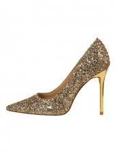 Glitter Sequined Pointed Toe Pumps Shoes