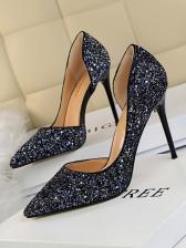 Night Club Sequined Pointed Toe Ladies Stiletto