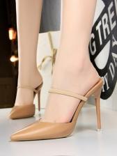 Simple Pointed Toe Stiletto Slipper
