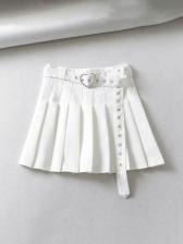 Korean Style High Waist A-Line Tennis Skirts