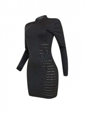 Sexy Hollow Out Long Sleeve Dress Club
