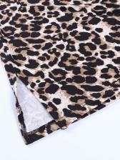 New Leopard Backless Camisole Mini Dress
