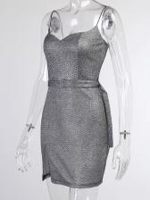 Fashion Solid Bodycon Camisole Dress Summer