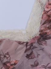 New V Neck Crop Top Print Camisole