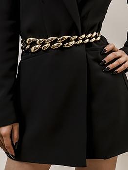 Personality Street Geometric Thick Waist Chain