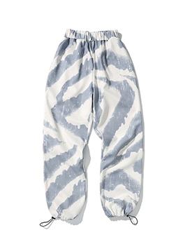 Versatile Color Block Mens Sweatpants