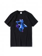 Creative Geometric Printed Graphic T Shirts
