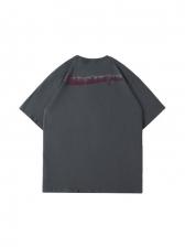 Loose Printed Half Sleeve Graphic Tees Men
