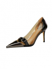 Sexy Pointed Toe Patchwork Female Pumps Shoes