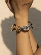 Punk Style Street Contrast Color Design Bracelet