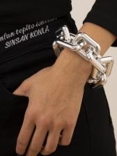 Simple Geometry Punk Thick Bracelet Ladies