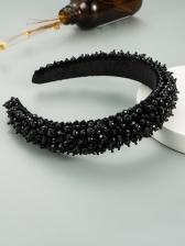 Baroque Style Handmade Solid Party Hair Hoop