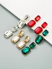 Geometry Solid Glass Drill Bohemian Earrings