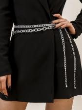 Simple Dress Easy Match Waist Chain Women