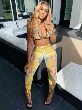 Chic Snake Printed Stylish Long Pants Ladies