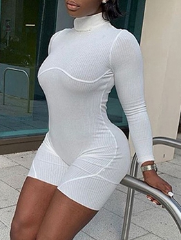 Sexy Hollow Out Fitness Long Sleeve Romper
