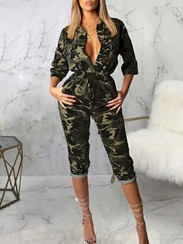 Versatile Camouflage Jumpsuits For Women