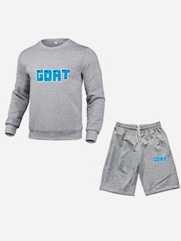Sporty Long Sleeve Men Activewear Sets