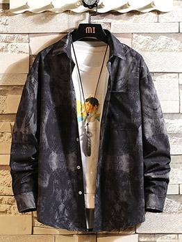 Chic Graffiti Printed Long Sleeve Button Up Shirts