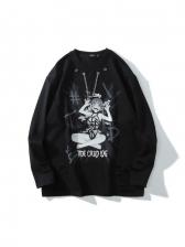Hip Pop Printed Long Sleeve Cool T Shirts